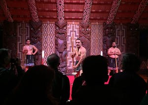 Almost every day in the meeting house at Waitangi, a group of Maori artists puts on cultural shows where they showcase traditional Maori songs, war dances and hymns.