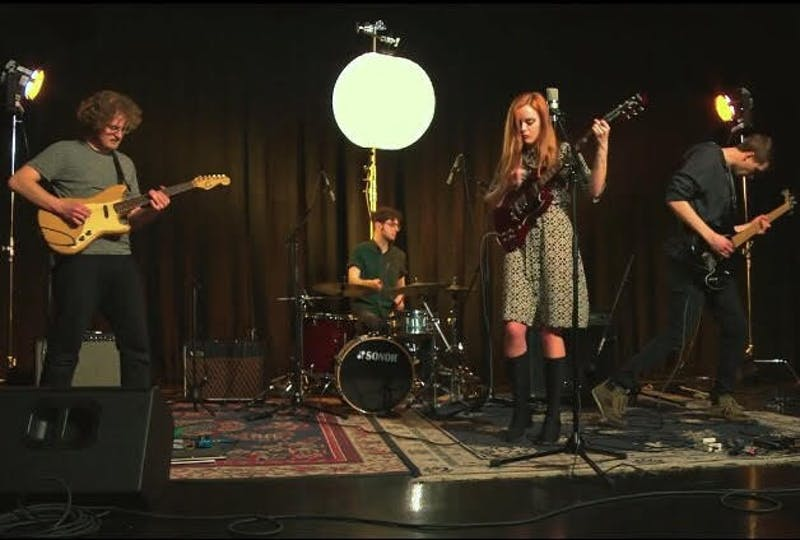 Local band Heaven Honey delivered a seven-song set at the Blockhouse Bar on Sunday night. The band will host a tape release show on Tuesday, April 3 at the Bishop, and will play the WIUX Culture Shock Music Festival on April 14
