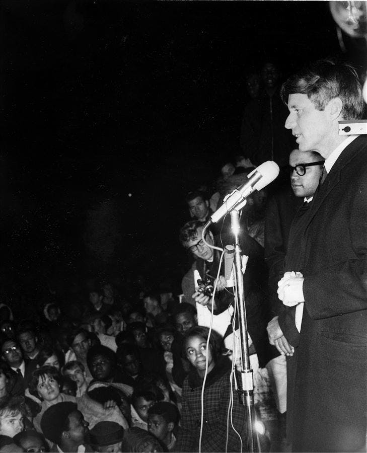 JFK's landmark speech on MLK's death remembered