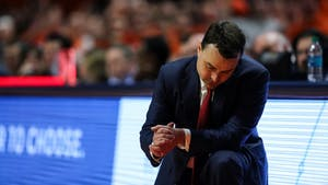 Indiana head coach Archie Miller reacts after Indiana misses a free throw during the second half against Illinois on Jan. 24. The Hoosiers lost to Nebraska Tuesday night, 66-57.