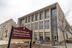 The School of Public and Environmental Affairs sits north of 10th street across from Wells Library. Founded in 1972, the school combines public management, policy and administration with environmental science.