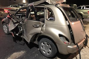 A silver PT Cruiser exploded with a man inside on Friday in the parking lot of Green Valley Motor Lodge in Nashville, Indiana. The cause of the explosion is still under investigation, but Public Information Officer Josh Stargell of the Brown County Sheriff's Office said the incident does not seem to be accidental or related to drugs.