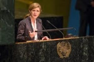 Samantha Power, former U.S. permanent representative to the United Nations and a Pulitzer Prize winner, will be the keynote speaker at the third annual conference on America's Role in the World on March 28 and 29. The conference will take place at the School of Global and International Studies.