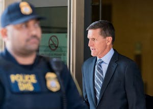 Former U.S. National Security Adviser Michael Flynn leaves the federal court following his plea hearing Friday, Dec. 1, 2017 in Washington D.C. Flynn, on Friday, pleaded guilty to lying to the Federal Bureau of Investigation regarding his improper contacts with Russia.