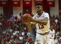 Then-sophomore forward Juwan Morgan, now a junior, makes a pass during a 2017 game against Rutgers. Morgan is expected to increase his offensive presence this season for the Hoosiers.