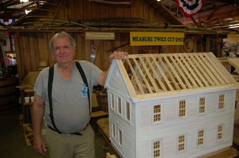 Bill Root, from Brown County, Indiana, built a miniature version of his childhood home. Root received a $35,000 grant from the National Endowment for the Arts.