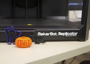 Center of Excellence for Women in Technology hosts a 3D printing workshop. The workshop focused on Halloween-themed designs on Monday at Wells Library.