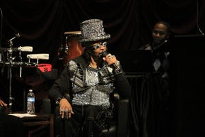 "Musician Bootsy Collins speaks about the beginning of his career in funk music, stating, ""It was hard not to use the word funk, because our whole situation was funked up."" Collins spoke with Dr. Scot Brown from UCLA Tuesday evening at IU Cinema during the event Funkology."