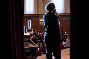 CNN host W. Kamau Bell came to IU's campus to perform for Martin Luther King Jr. Day.