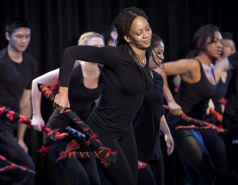 African American Dance Company's former director Iris Rosa's A221 class performs during the ADC Studio Concert in 2012 in the Willkie Auditorium. They will perform a concert as a part of Black History Month this Sunday at 4 p.m. in the Monroe County Public Library.