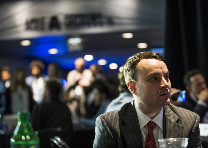 Head Coach Archie Miller talks to the media during Big Ten Media Day at Madison Square Garden on Thursday. This was Miller's first Big Ten Media Day as Indiana's head coach.