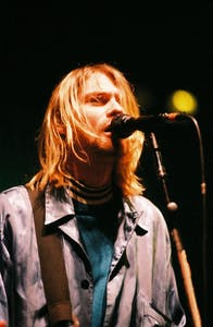 Singer and guitarist Kurt Cobain of Nirvana performed in Amsterdam in 1991.