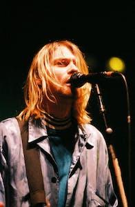 Singer and guitarist Kurt Cobain of Nirvana performed in Amsterdam in 1991.