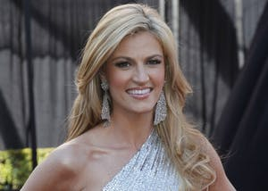 Erin Andrews arrives at the 83rd Annual Academy Awards on Sunday, February 27, 2011, at the Kodak Theatre in Los Angeles. Andrews will be speaking at the IU Auditorium about working as a reporter and how college effected her life.
