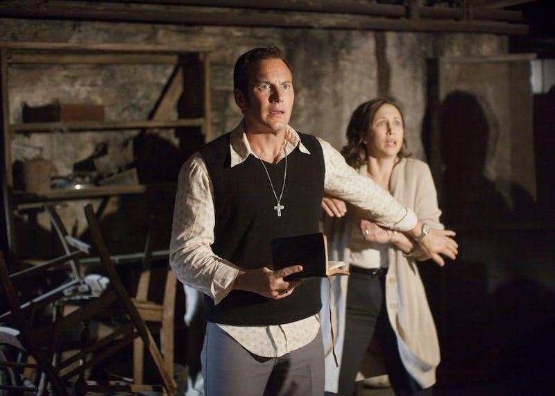 "Patrick Wilson as Ed Warren and Vera Farmiga as Lorraine Warren star in the supernatural thriller ""The Conjuring."""