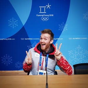 IU alumnus Adam Kiefer poses Feb. 5 in the Gangwon Press Conference Room in the Main Press Center in PyeongChang, South Korea. Kiefer has gained international attention for his musical performances during mic checks at the 2018 Winter Olympics.