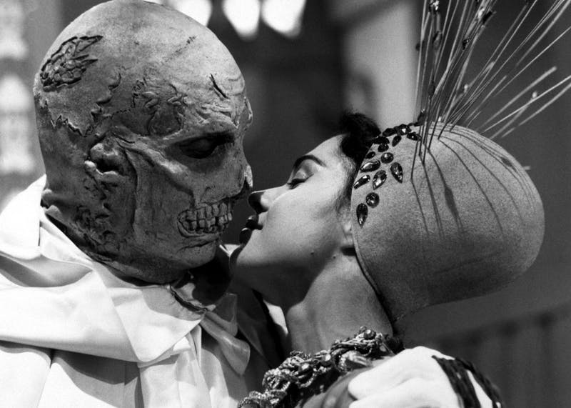 "Vincent Price stars in ""The Abominable Dr. Phibes"" in 1971."