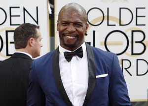 Terry Crews arrives for the 71st Annual Golden Globe Awards show at the Beverly Hilton Hotel on Sunday, Jan. 12, 2014, in Beverly Hills, California. Crews will visit the IU Auditorium on April 7.