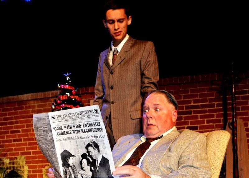 """Felix Merback, as Joe Farkas, and Adam Crowe, as Adolph Freitag, react to news of Hitler's advance into Poland in the performance of """"The Last Night of Ballyhoo."""" The show, put on by the Jewish Theatre of Bloomington, will show at 7:30 p.m. Dec.2, 7 and 9 and at 3 p.m. on Dec. 3 and 10."""