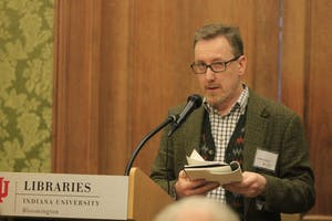 "Bookseller Jonathan Kearns reminisces on his first time reading ""Frankenstein."" In his talk at the Lilly Library on Thursday, he discussed the origins of ""Frankenstein"" and the eccentricities of Mary Shelley's circle of friends."