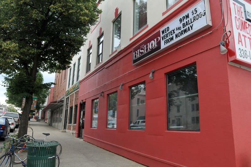 The Bishop is a bar and an event venue. It is located at 123 S. Walnut St.