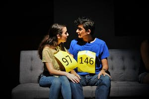 COURTEST OF WITNESS THEATER Gemma Simoes Decarvalho and Usman Enam starred in IQ, a featured play.