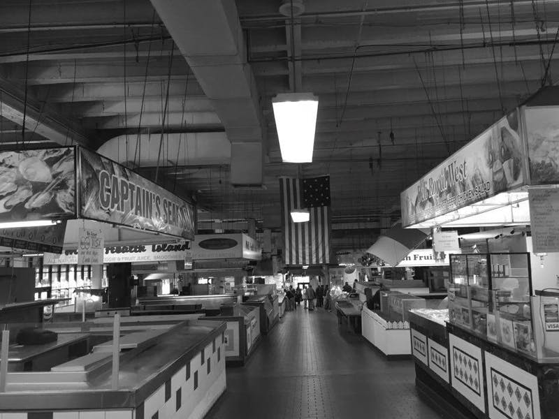 COURTESY OF RENEE SCAVONE Historic Lexington Market makes you feel like a real Baltimore local.