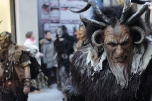 TRIBP/CC-BY-SA-2.0 Krampuslauf is celebrated all across the world with festivals and parades where participants dress as the beast to celebrate.
