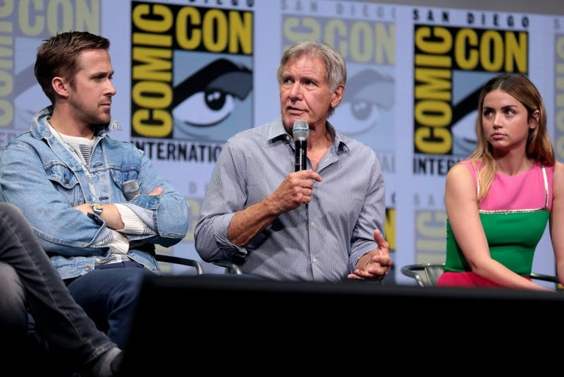GAGE SKIDMORE/CC BY -SA 2.0 Ryan Gosling, Harrison Ford and Ana De Armas all star in the daring sequel, Blade Runner 2049.