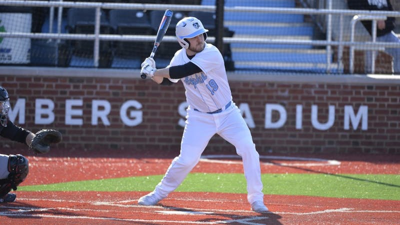HOPKINSSPORTS.COM Senior Mike Smith drove in his 100th career RBI against McDaniel.