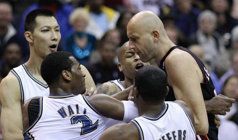 CC BY-SA 2.0/Keith Allison There has been an increase in the number of fights in the NBA this season.