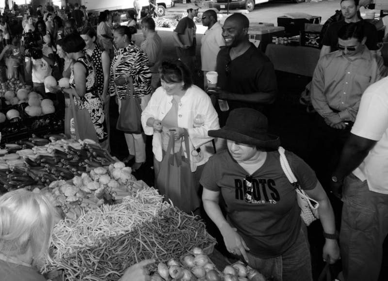 LANCE CHEUNG FOR THE USDA VIA FLICKR CC-BY-2.0 The Baltimore Farmers' Marlet & Bazaar offers a wide variety of goods.
