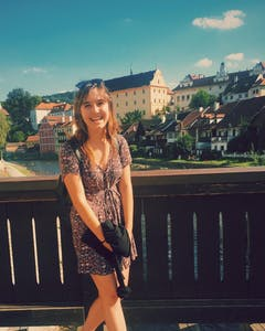 COURTESY OF LILY KAIRIS Lily Kairis first fell in love while studying abroad in the Czech Republic.