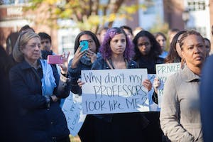 COURTESY OF THE BLACK STUDENT UNION In November 2015, BSU members protested against the state of black rights on campus.