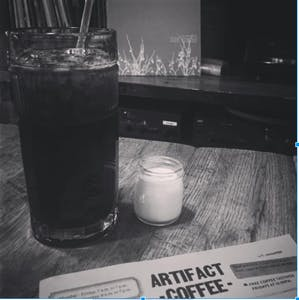 COURTESY OF NEHAL AGGARWAL A delicious and Instagram-worthy Japanese cold brew is one of the many options at Artifact Coffee.