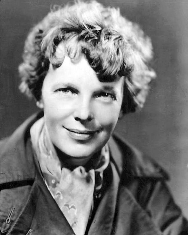 PUBLIC DOMAIN Earhart and her navigator disappeared over the Pacific Ocean in 1937.