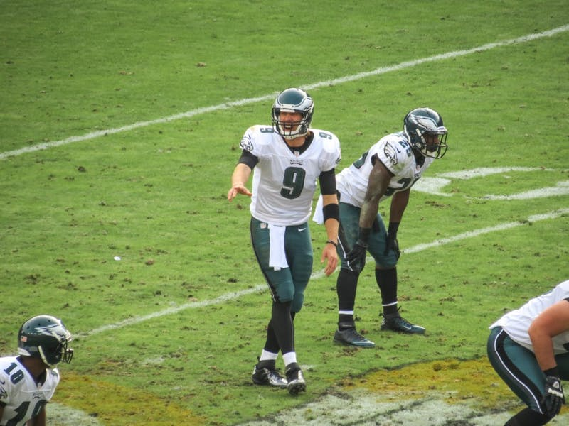 MATTHEW STRAUBMULLER/CC BY 2.0 Nick Foles won Super Bowl MVP but may be traded this offseason.