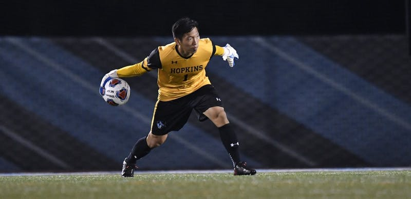HOPKINSSPORTS.COM The men's soccer team had won their first 11 games until Saturday's loss.