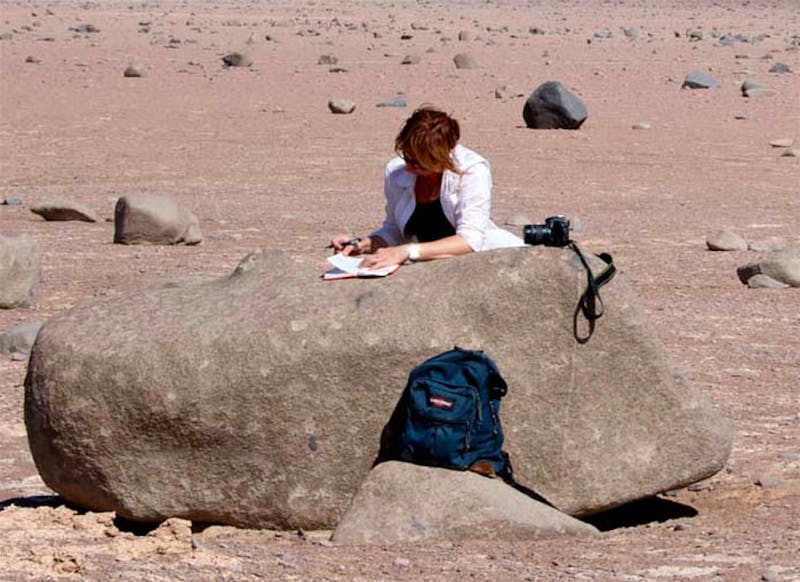 COURTESY OF JOCELYNE DIRUGGIERO Hopkins professor Jocelyne DiRuggiero spends time researching in extreme climates such as the desert.