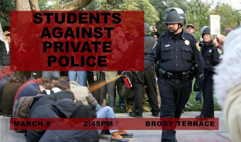 Courtesy of Louis Macabitas This image from UC Davis shows the potential dangers of a private force.