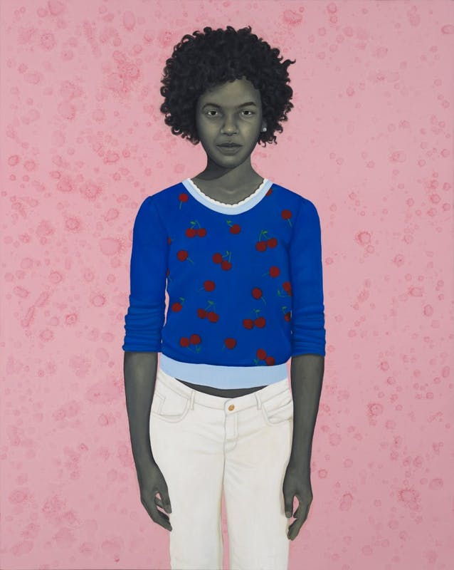 COURTESY OF THE ARTIST AND MONIQUE MELOCHE GALLERY Amy Sherald, The light in her is easy to love. Oil on canvas, 2017.