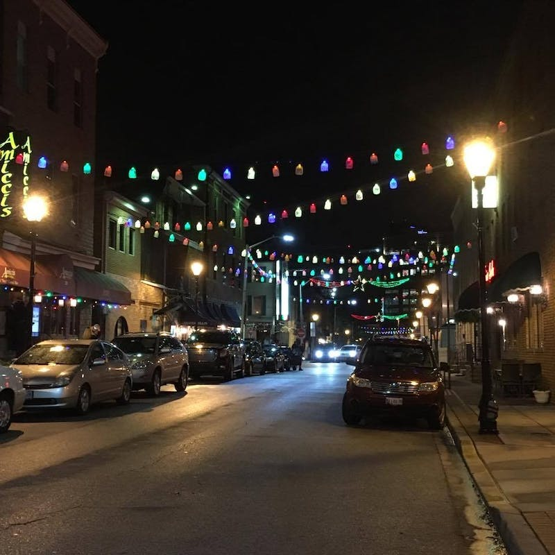 courtesy of Renee Scavone The movie-set quality of Little Italy's artful sidewalks make it an ideal getaway from Hopkins stress.