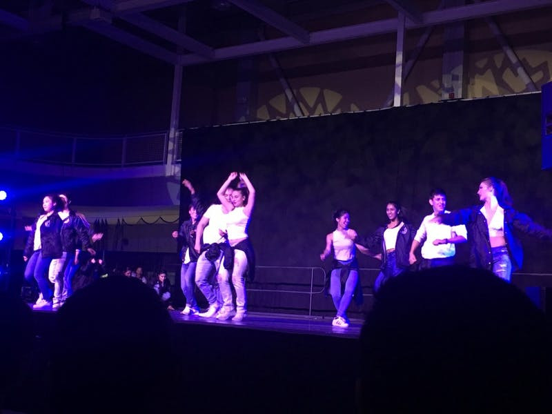 COURTESY OF DARIA RAMOS-IZQUIERDO Student hip-hop dance group SLAM invited several other groups to join them at their showcase.