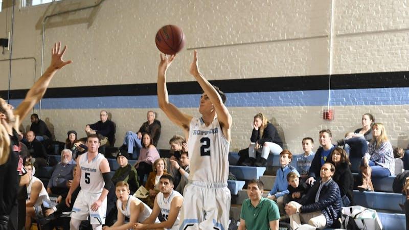 HOPKINSSPORTS.COM Freshman Joey Kern scored 15 points on eight shots against Haverford.