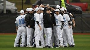 HOPKINSSPORTS.COM The Johns Hopkins baseball team went 1-1 on Saturday to open the season.