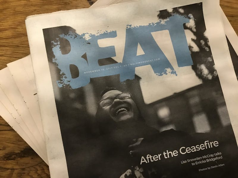 The Baltimore Beat only published 16 issues before stopping production.