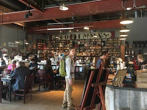 COURTESY OF JISOO BAE A Station North neighborhood staple, Red Emma's Bookstore Coffeehouse offers a hip cafe atmosphere.