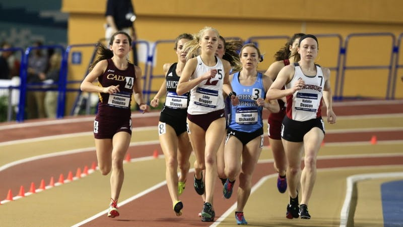 HOPKINSSPORTS.COM Freshman Therese Olshanski placed seventh in the mile run at Nationals.