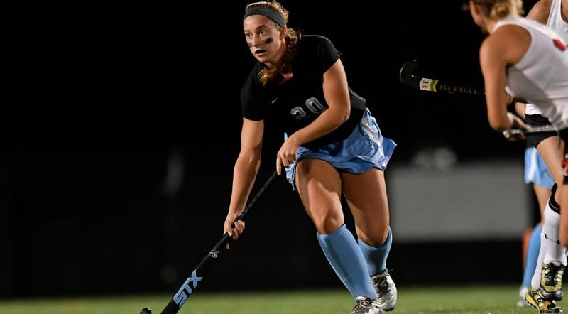 hopkinssports.com Sophomore Katie McErlean scored two goals in the first half of the game against Goucher.