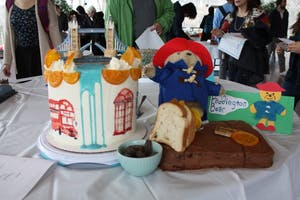 COURTESY OF DRAKE FOREMAN This Paddington cake won Best in Show at this year's Edible Book festival.